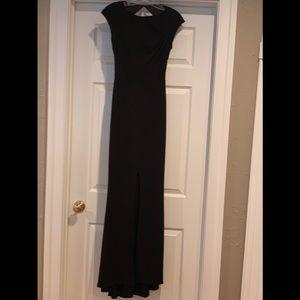 Rachel Zoe black slit gown